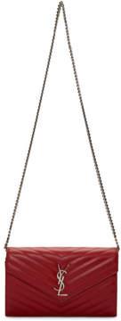Saint Laurent Red Envelope Chain Wallet Bag