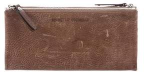 Brunello Cucinelli Distressed Leather Wallet