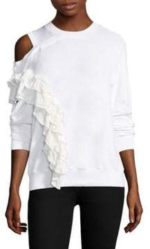 Clu Ruffle Cold-Shoulder Pullover