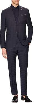 Michael Bastian Gray Label Men's Wool Checkered Notch Lapel Suit