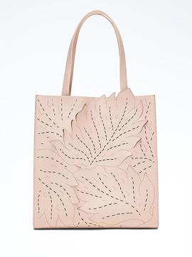 Portfolio Structured Tall Lasercut Leaf Tote