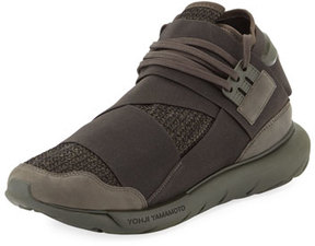 Y-3 Qasa Men's High-Top Trainer Sneaker, Black/Green