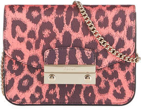 Furla Julia Mini Leopard-Print Leather Crossbody Bag
