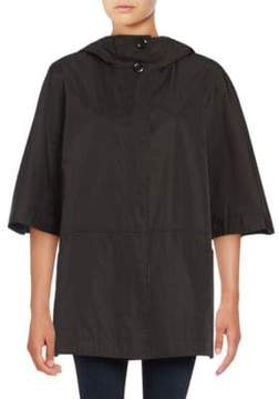 Ellen Tracy Hooded Poncho Coat