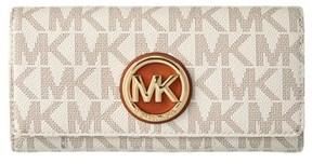 MICHAEL Michael Kors Fulton Mk Signature Wallet. - VANILLA - STYLE