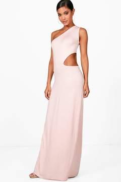 boohoo One Shoulder Cut Out Maxi Dress