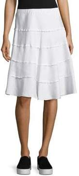 Context Tiered Flare Skirt
