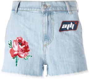Au Jour Le Jour denim patch shorts