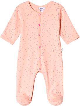 Absorba Pink and Orange Spot Babygrow