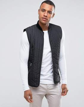 Solid Quilted Longline Vest