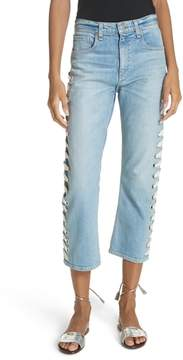 Veronica Beard Ines Girlfriend Crop Jeans