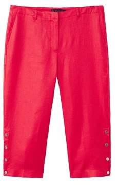 Violeta BY MANGO Linen-blend culotte trousers