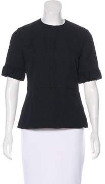 Emilia Wickstead Textured Half Sleeve Top