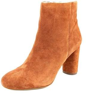 INC International Concepts Taytee Women Round Toe Suede Orange Ankle Boot.