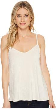 Michael Stars Velvet Tank Top with Slits Women's Clothing