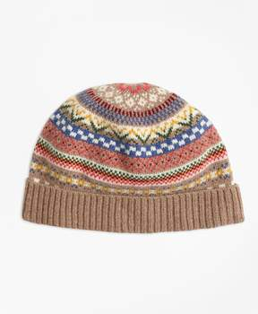 Brooks Brothers Merino Wool-Blend Fair Isle Hat
