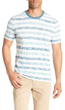 Michael Bastian Striped Slub Crew Neck Tee