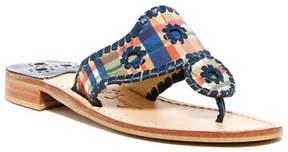 Jack Rogers Plaid Thong Sandal