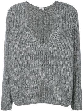 Closed V-neck jumper