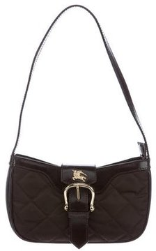 Burberry Leather-Trimmed Quilted Shoulder Bag - BROWN - STYLE