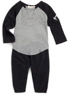 Appaman Baby's Baseball Cotton Tee & Pants Set