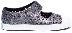 Native 'Jefferson Bling Glitter' coated perforated toddler slip-on sneakers