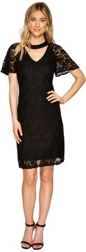 Christin Michaels Reese Lace Dress with Keyhole Women's Dress