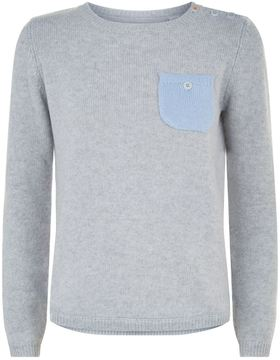 Chinti and Parker Contrast Pocket Sweater