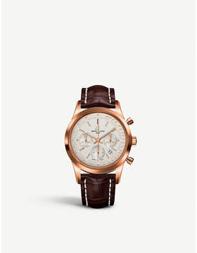Girard Perregaux Girard-Perregaux RB015212G738740P Transocean chronograph 18kt rose gold and alligator leather strap watch