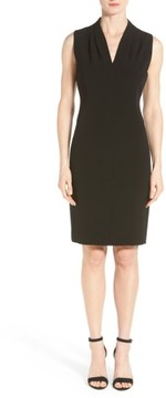 T Tahari Women's 'Tonya' V-Neck Sheath Dress