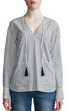 DAY Birger et Mikkelsen Two-Tone Striped V-Neck Top