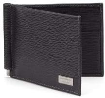 Salvatore Ferragamo Revival Textured Leather Money-Clip Bifold Wallet