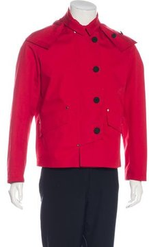 Christian Dior Leather-Trimmed Hooded Jacket