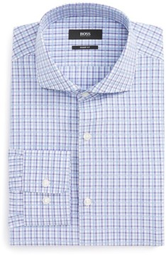 BOSS Men's Mark Sharp Fit Check Dress Shirt