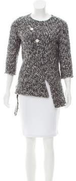 Celine Asymmetrical Bouclé Sweater