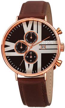 August Steiner Mens Brown Strap Watch-As-8212rgb