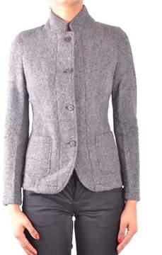 Sun 68 Women's Grey Wool Blazer.