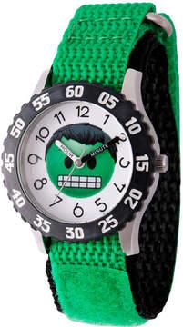 Marvel Emoji Boys Green Strap Watch-Wma000084