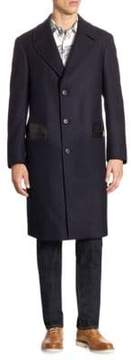 Salvatore Ferragamo Wool& Cashmere Single-Breasted Coat