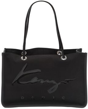 Logo Nylon & Cotton Canvas Tote Bag