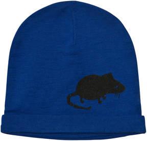 Mini Rodini Blue Mr Mouse Wool Beanie