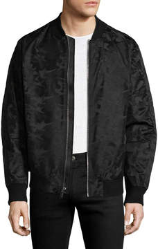 Karl Lagerfeld Men's Leather Bomber Jacket