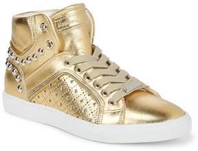 Alessandro Dell'Acqua Alessandro DellAcqua Women's Metallic Hi-Top Stud Sneakers