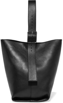 Theory Hobo Leather Shoulder Bag - Black