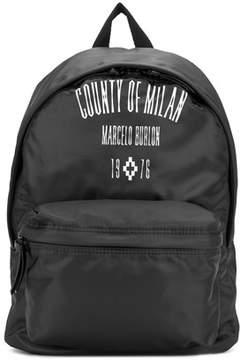 Marcelo Burlon County of Milan Men's Black Polyester Backpack.
