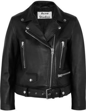 Acne Studios Leather Biker Jacket - Black