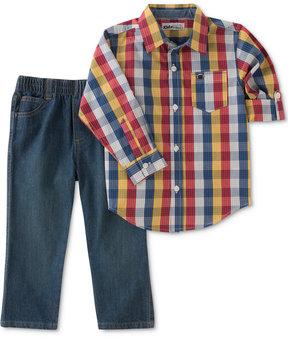Kids Headquarters 2-Pc. Plaid Shirt & Jeans Set, Little Boys (4-7)