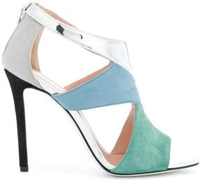 Pollini colour block sandals