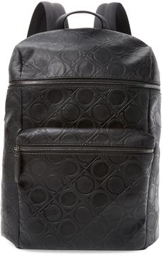 Salvatore Ferragamo Leather Zip Backpack