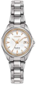 Citizen Super Titanium EW2410-54A White/Silver Eco-Drive Women's Watch